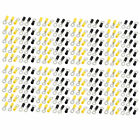 100 Pairs RV5.5-6 Pre Insulated Crimp Terminal for AWG 12-10 Wire Yellow Black