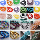 Wholesale  50pcs 6x4mm Rondelle Faceted Crystal Glass Loose Spacer Beads