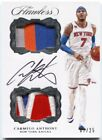 16-17 Panini Flawless Carmelo Anthony Autograph Dual Patch Auto #07 25
