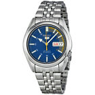 Seiko 5 Blue Dial Stainless Steel Automatic Mens Watch SNK371