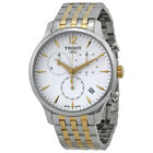 Tissot T Classic Tradition Chronograph White Dial Two tone Mens Watch