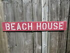 38 INCH BEACH HOUSE WOOD HAND PAINTED SIGN NAUTICAL SEAFOOD (#S453)