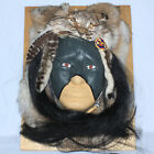VERY COOL NATIVE AMERICAN ANIMAL SPIRIT MASK ANIMAL HIDE FEATHERS LEATHER
