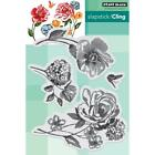 New Cling Penny Black RUBBER STAMP CLING FLOWER PAGEANT SET OF 4 free USA Ship