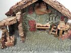 large CHRISTMAS NATIVITY STABLE CRECHE20 LONG fits 75 FONTANINI FIGURES