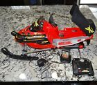 New Bright Ski Doo Bombardier 192v Radio Control Snowmobile R C Car RUNS GREAT