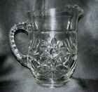 EAPC Early American Prescut 18 Oz Milk Pitcher Anchor Hocking Glass Star David