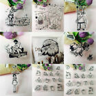 Transparent Clear Silicone Rubber Stamp Cling Diary Scrapbooking Card Decor DIY