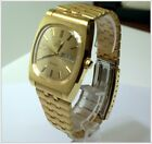 Immaculate OMEGA 70's Geneve Auto Cal 1022 Gold Men's Watch, Case & Watch Winder