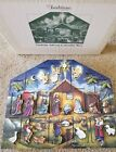Byers Choice Traditions Nativity Wooden Advent Calendar preowned w box