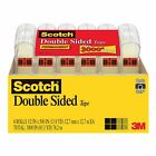 Scotch Double Sided Tape 1 2x500 6 Rolls Photo Safe Permanent NEW