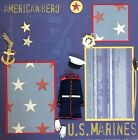 Military US Marines 1 12x12 Premade Scrapbook Page Roses Creative Studio