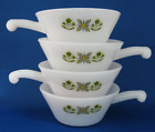 4 Anchor Hocking Fire King MEADOW GREEN French Casserole/Soup Bowls-Set of Four