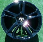 4 Perfect BLACK OEM Factory Lamborghini LP560 APOLLO WHEELS Gallardo LP550 LP570