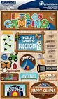 Reminisce Lets Go Camping Summer Camp Scrapbooking 3D Stickers