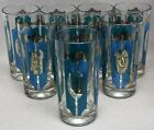 GOLD on CLEAR WATER GLASS  ICED TEA TUMBLERS