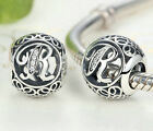 New 26 Letters European Silver Cz Charm Beads Fit Sterling 925 Bracelet Chain