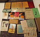 LARGE VINTAGE PAPER LOT ADS DIFFERENT OLD MISC PAPER cards note books old