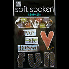 soft spoken Family Fun STICKERS PACK We are Blessed Banners Heart FREE USA SHIP