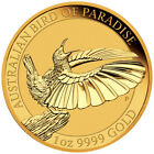 Daily Deal 2018-P Australia 1 oz Gold Bird of Paradise $100 Coin GEM BU SKU53603