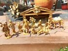 FONTANINI NATIVITY 7 75 NATIVITY SET WITH Italy STABLE Depose 1983 Creche