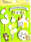 K  Company WELCOME HOME BABY scrapbooking stickers free combined shipping