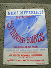 Vintage spinning boards bud browne surf movie poster surfboard 1961 longboard