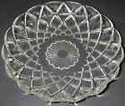 Hazel Atlas Glass LINE 232 Clear Criss-Cross Dish Candy round scallop Giftware