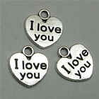 DIY 26pcs Tibet silver I Love you Necklace Charm Pendant beads Jewelry Making
