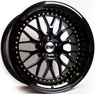 17 ESR SR01 Black Wheels For Honda Prelude Matrix 5x1143 17X85 +30 Rims Set 4