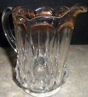 Clear Pressed Depression Panel Glass Cream Milk Pitcher Creamer Scalloped Edge