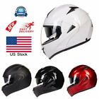 US STOCK DOT Modular Dual Visor Flip Up Motorcycle Helmet Motocross Full Face
