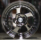 18 ESR SR02 Black Chrome Wheels For Honda CRV Prelude 18x85 5X1143 +30 Rims