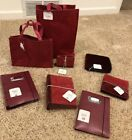 NWT 8pc Barnes and Noble Lot Jute Bag Canvas Cd Wallet Address Book Photo Album