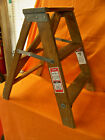 VINTAGE WERNER W130-4 WOODEN FARMHOUSE 2 FT. STEP LADDER SHABBY CHIC PLANT STAND