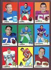 LOT OF (365) 1969 TOPPS FOOTBALL CARDS (VG to EX-MT)