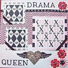 Drama Queen Girls Single 12x12 Premade Scrapbook Page Roses Creative Studio