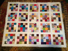 Unfinished Quilt Top Scrappy Block 38 x 47