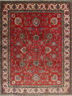 Antique 9x12 Tabriz Persian Area Rug All-Over Floral Oriental Wool Carpet