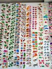 HUGE LOT VINTAGE HAMBLY STICKERS FOIL PRISMATIC CHRISTMAS HALLOWEEN ANIMALS FISH