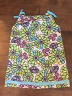 EEUC Hanna Andersson Big Bold Bright Flower Print Pillowcase Dress 130 Size 8