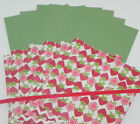 STRAWBERRIES WILD WASABI 6X6 DOUBLESIDED DESIGNER PAPER CARDSTOCK STAMPIN UP