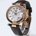 GUESS COLLECTION, X58004G1S ,SWISS MADE, CHRONOGRAPH WATCH,LEATHER BAND, NIB,