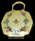 Stunning Antique DBL SIDED Marathon ENAMEL GUILLOCHE Hand Painted COMPACT Case