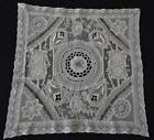 Lovely Vintage NORMANDY MIXED LACE Square Doily HM Embroidery Antique Lace