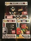 Funko Pop Collector Corp Exclusives Lot Of 3 Iron-Man Vision DareDevil Bullseye!