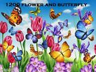 1200 Flower and Butterfly Embroidery Machine Designs Brother Baby Lock PES
