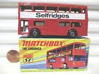 Lesney Matchbox MB17B 1972 The Londoner Red SELFRIDGES Bus Mint in Mint Box