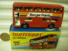 MATCHBOX MB17B BERGER PAINTS BUS BLK MTL BASE 5 SPOKE Whls NO Axle Braces MIB