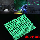 407Pcs Glow In The Dark Wall Stickers Luminous Decal for Baby Kid Nursery Room